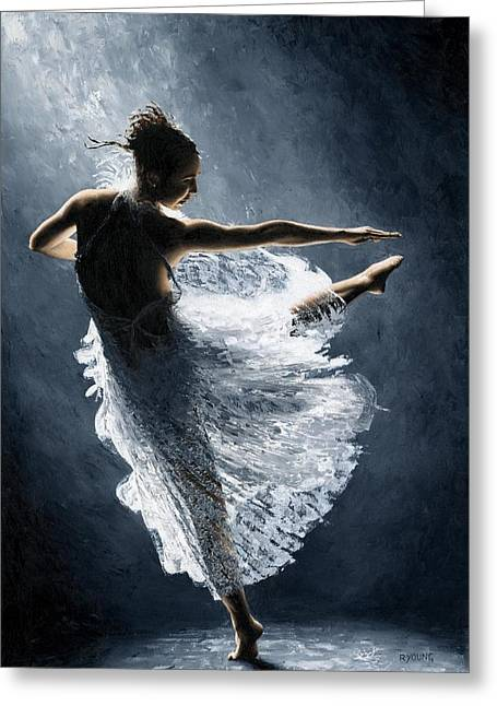 Ballerina Artwork Greeting Cards - Solitaire Greeting Card by Richard Young