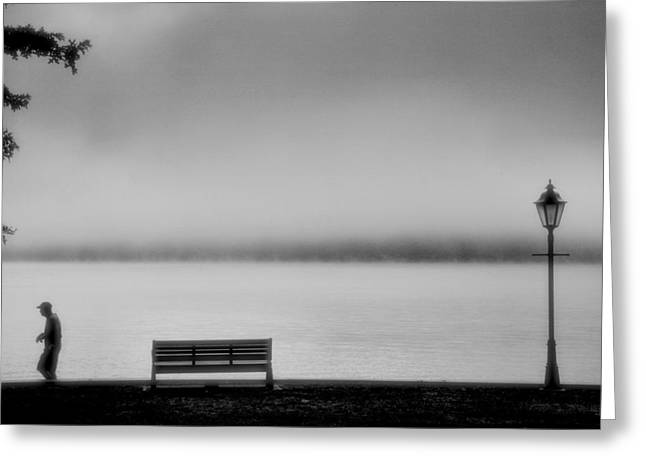 Finger Lakes Greeting Cards - Solitary Man Greeting Card by Steven Ainsworth