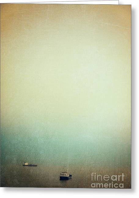 Silvia Ganora Greeting Cards - Solitary ships Greeting Card by Silvia Ganora