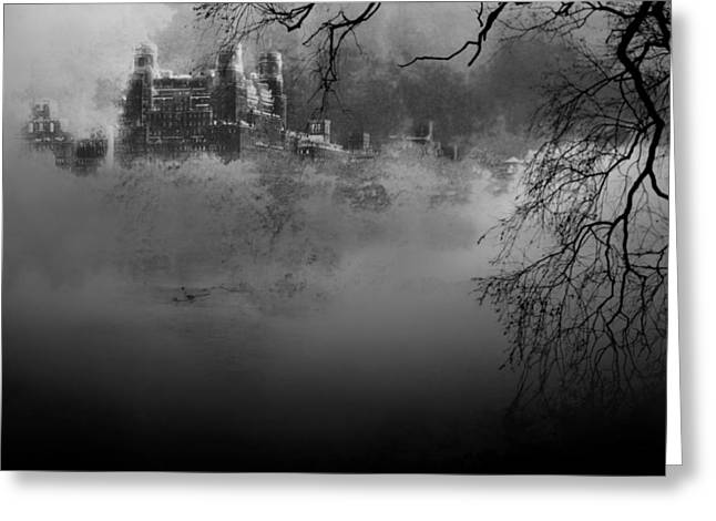 Rowboat Digital Art Greeting Cards - Solitude in Central Park Greeting Card by Jeff Burgess