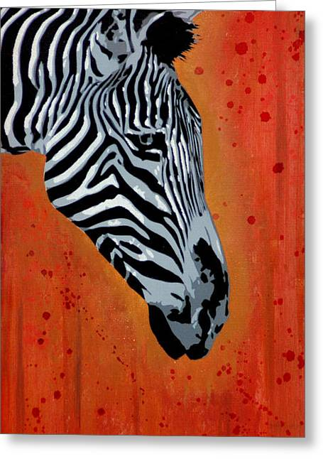 Drip Mixed Media Greeting Cards - Solitude in Stripes Greeting Card by Iosua Tai Taeoalii