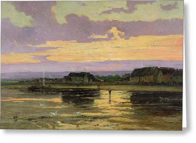 Solitude Paintings Greeting Cards - Solitude in the Evening Greeting Card by Marie Joseph Leon Clavel Iwill
