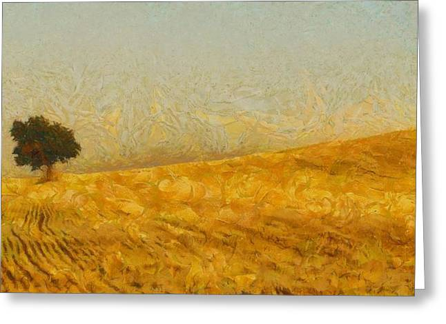 Crops Greeting Cards - Solitude is Golden Greeting Card by Aaron Stokes