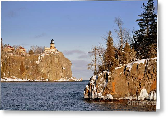 Misty Pine Photography Greeting Cards - Solitude Rock Greeting Card by Whispering Feather Gallery