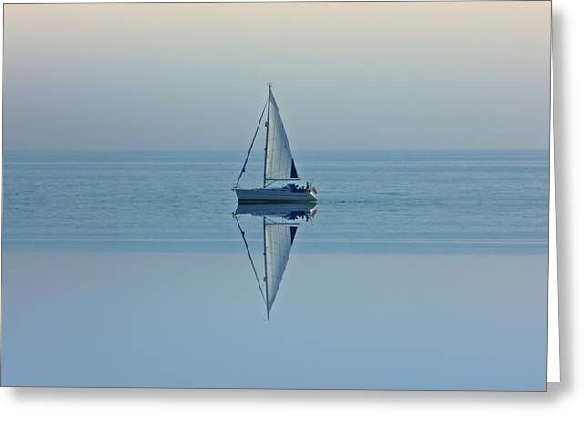 Yatch Greeting Cards - Solitude Greeting Card by Sharon Lisa Clarke