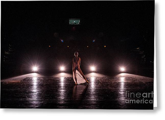 Solo dance performance Greeting Card by Scott Sawyer