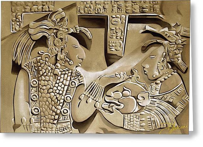 Pyramids Mixed Media Greeting Cards - Solo Maya Au Greeting Card by Dancin Artworks