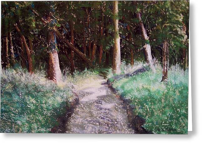 Pathway Pastels Greeting Cards - Solveigs Journey Greeting Card by Marika Evanson
