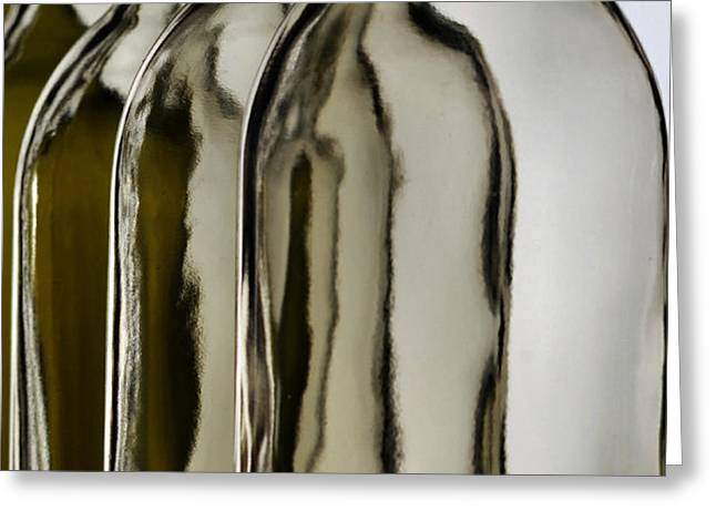 Somber Bottles Greeting Card by Joe Bonita