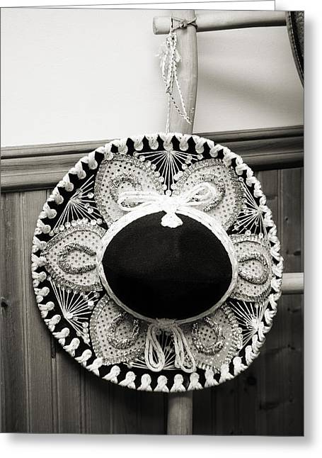 Sequin Greeting Cards - Sombrero Greeting Card by Marilyn Hunt