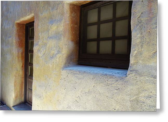 Old Wall Greeting Cards - Somebodys humble abode Greeting Card by Armando Perez