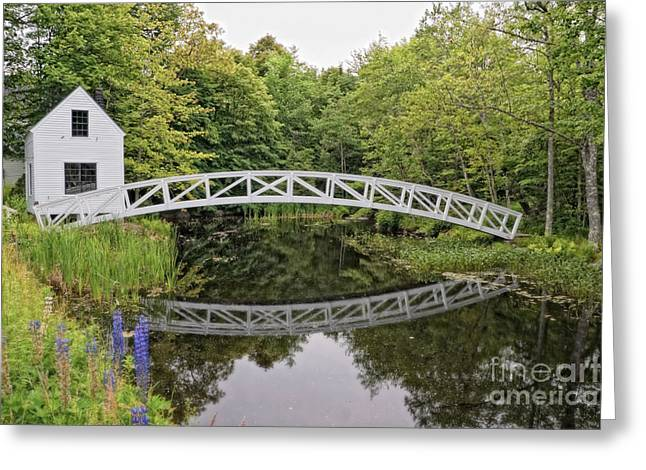 Somesville Maine Greeting Cards - Somes Bridge Greeting Card by Anne Kitzman