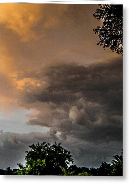 Skies Reliefs Greeting Cards - Something Wicked Greeting Card by Christy Usilton