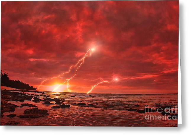 Lightning Landscapes Greeting Cards - Something Wicked Greeting Card by Paul Topp