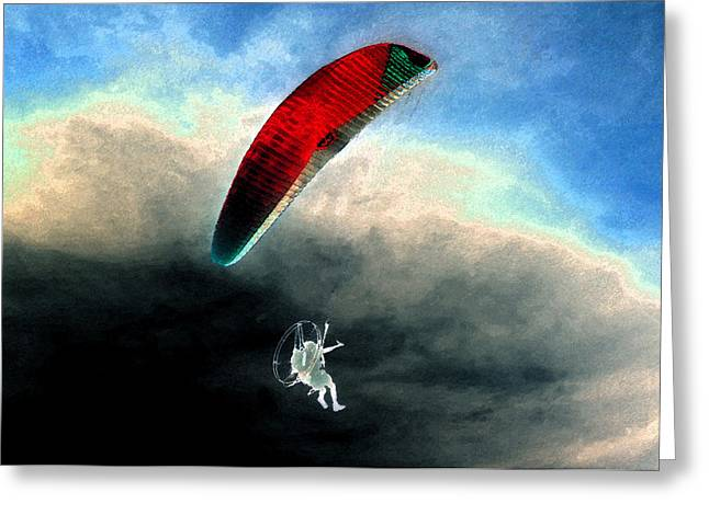 Para Sailing Greeting Cards - Son of Icarus Greeting Card by David Lee Thompson