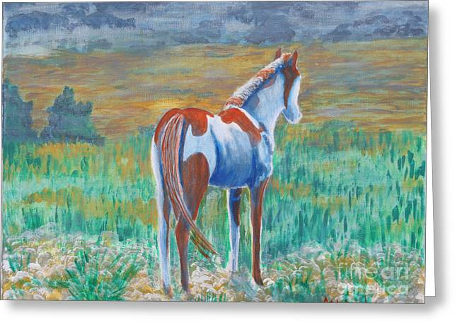Sokolovich Paintings Greeting Cards - Son of Painted Desert Greeting Card by Ann Sokolovich