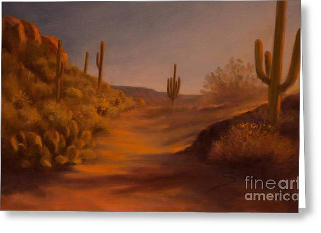 Sonoran Deset Greeting Cards - Sonoran Light Greeting Card by Ruth Ann Sturgill