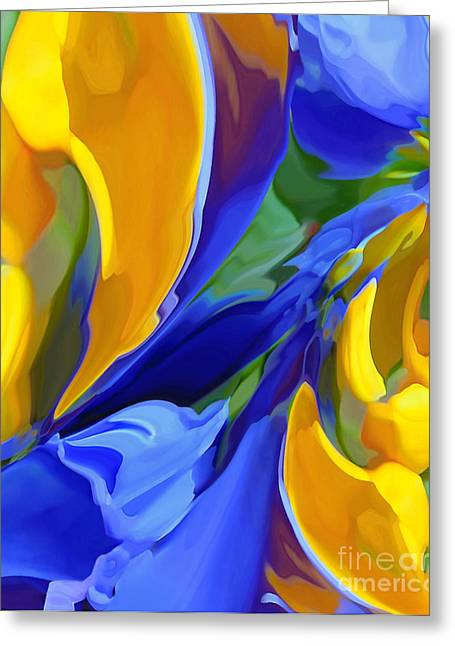 Recently Sold -  - Abstract Digital Paintings Greeting Cards - Sonvortique Greeting Card by One Uv One