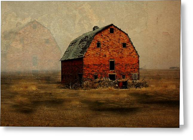 Barn Digital Art Greeting Cards - Soon to be Forgotten Greeting Card by Julie Hamilton