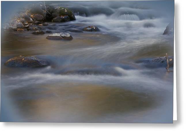 Water Flowing Greeting Cards - Soothing Waters Greeting Card by Ernie Echols