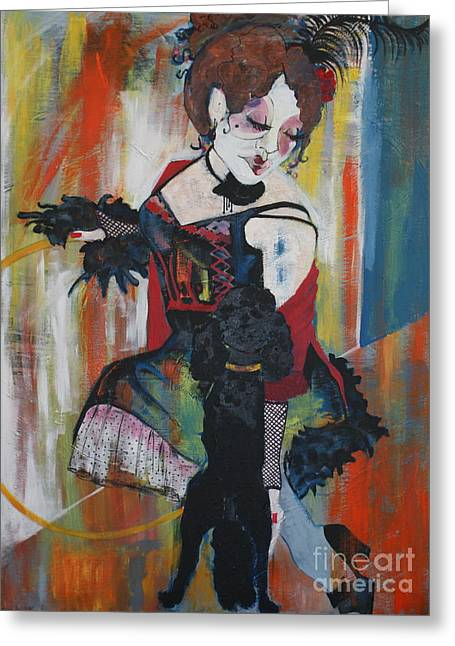 Dancing Girl Greeting Cards - Sopheia and Lu lu stage 4 Greeting Card by Joanne Claxton