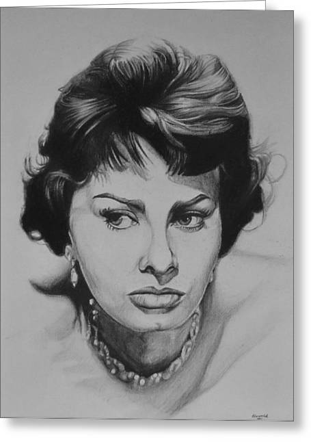Sophia Loren Greeting Cards - Sophia Loren Greeting Card by Steve Hunter