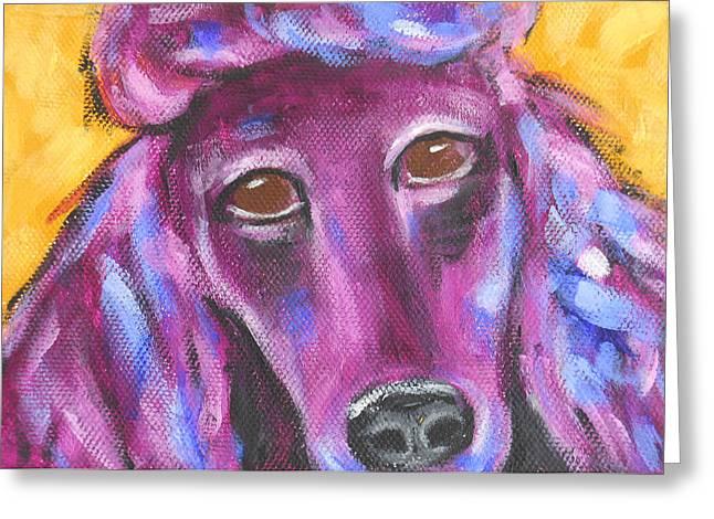 Maryann Greeting Cards - Sophie Standard Poodle Greeting Card by MaryAnn Ceballos
