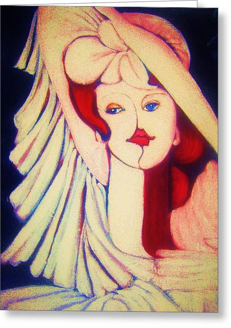 Gay Art Framed Giclee On Canvas Greeting Cards - SOPHISTICATED LADY  2  -  Art Deco Greeting Card by Gunter  Hortz