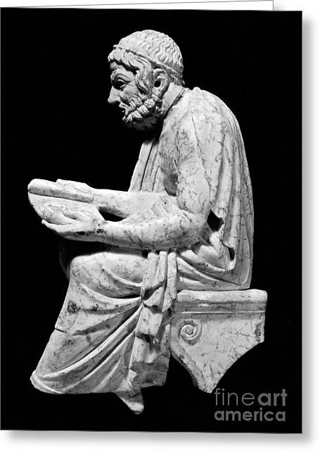Statue Portrait Greeting Cards - SOPHOCLES (c496-406 B.C.) Greeting Card by Granger