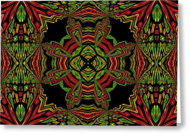 Abstract Geometric Greeting Cards - Sorrow Greeting Card by Georgiana Romanovna