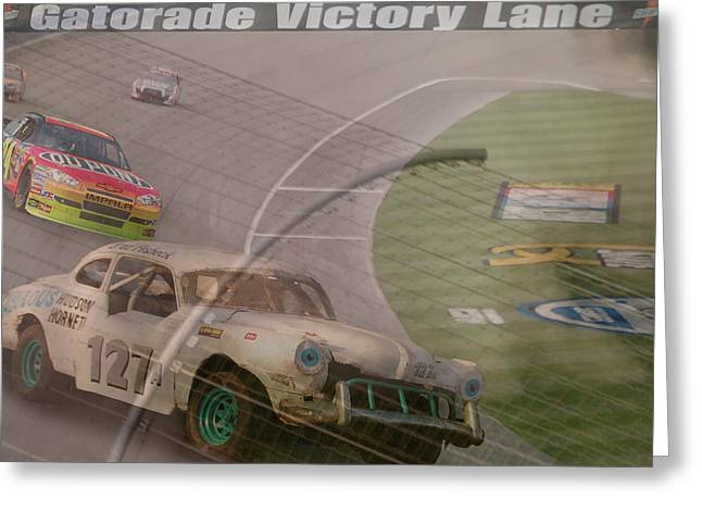 Jeff Gordon Greeting Cards - sorry Jeff Greeting Card by Bill Dutting
