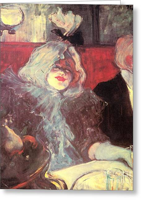 Henri De Toulouse-lautrec Paintings Greeting Cards - Soubor Greeting Card by Pg Reproductions