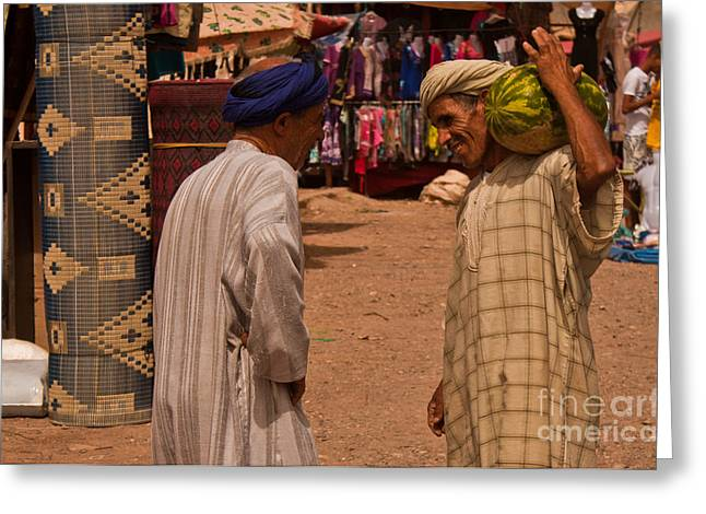 Berber Man Greeting Cards - Souk Greeting Card by Nabucodonosor Perez