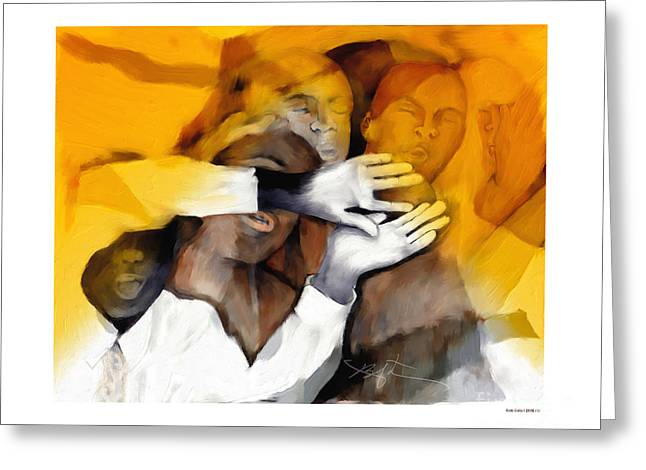 Haitian Digital Greeting Cards - Soul Brothers Greeting Card by Bob Salo