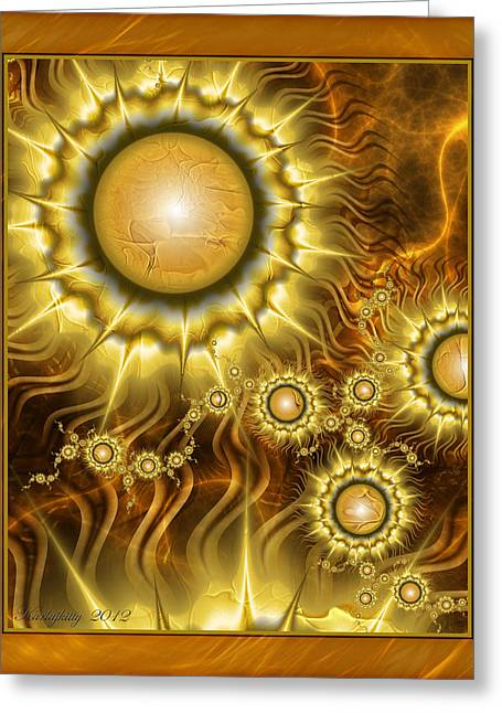 Karlajkitty Digital Greeting Cards - Soul Fire Greeting Card by Karla White