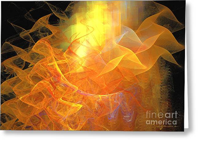 Interior Still Life Mixed Media Greeting Cards - Soul flower - abstract art Greeting Card by Abstract art prints by Sipo