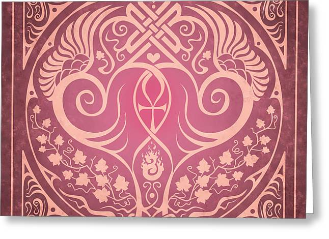 Knotwork Greeting Cards - Soul Mates Greeting Card by Cristina McAllister