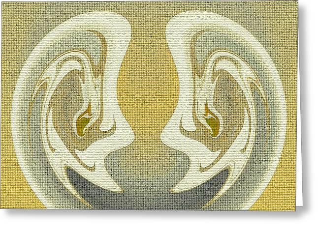Souls Greeting Cards - Soul Mates I Greeting Card by Jayne Logan Intveld