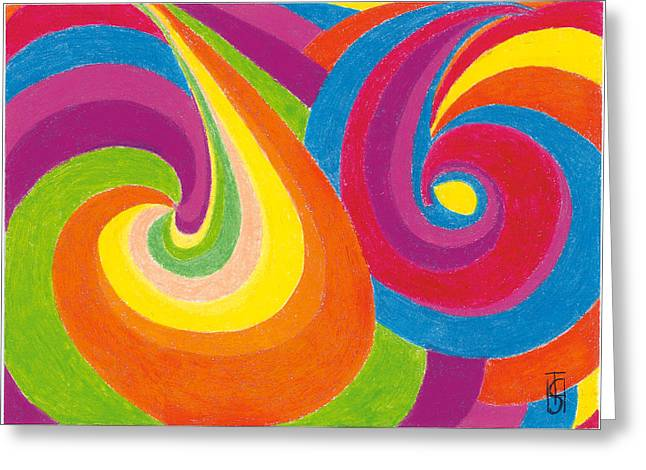 Vibrant Pastels Greeting Cards - Soul Music Greeting Card by Helen Savin Thornhill