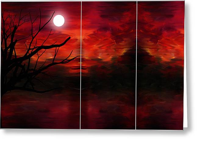 Tree Silhouette At Sunset Greeting Cards - Soul Observer Greeting Card by Lourry Legarde