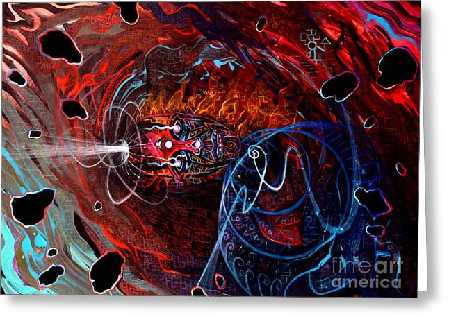 Shamanism Greeting Cards - Soul On Fire Greeting Card by Steve Griffith