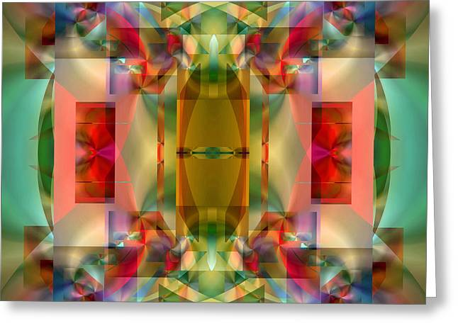 All Over Pattern Greeting Cards - Soul Sanctuary 2 Greeting Card by Lynda Lehmann