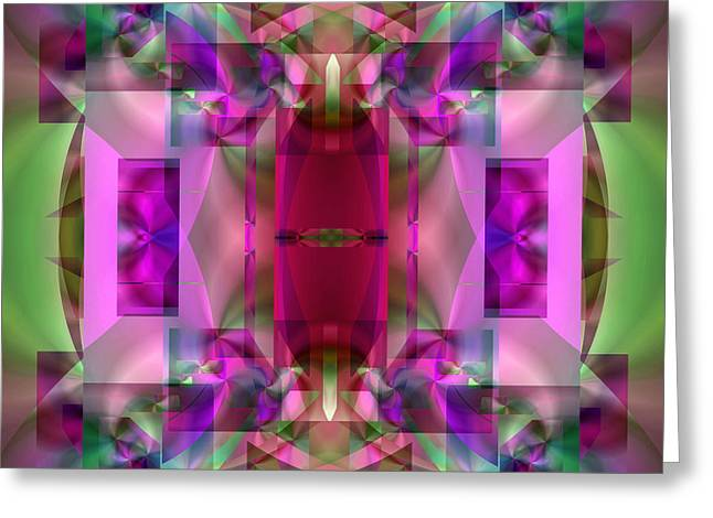 All Over Pattern Greeting Cards - Soul Sanctuary 4 Greeting Card by Lynda Lehmann