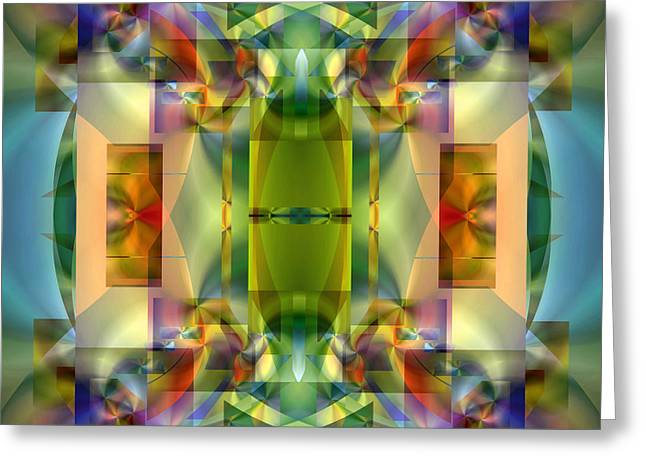 All Over Pattern Greeting Cards - Soul Sanctuary 5 Greeting Card by Lynda Lehmann