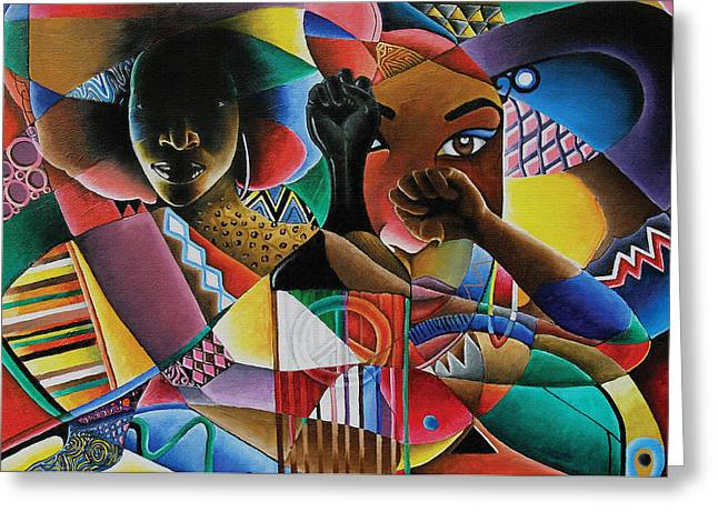 African-american Paintings Greeting Cards - Soul Greeting Card by Stacy V McClain