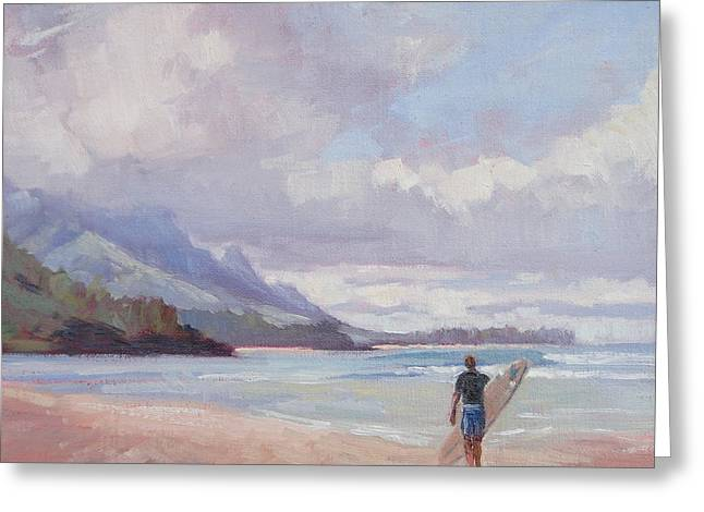 Hanalei Beach Greeting Cards - Soul Surfer Greeting Card by Jenifer Prince