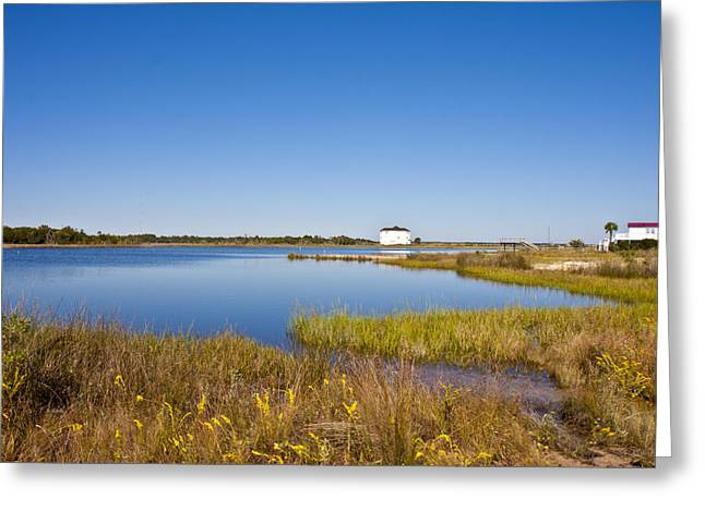 Topsail Island Greeting Cards - Sound View Greeting Card by Betsy A  Cutler