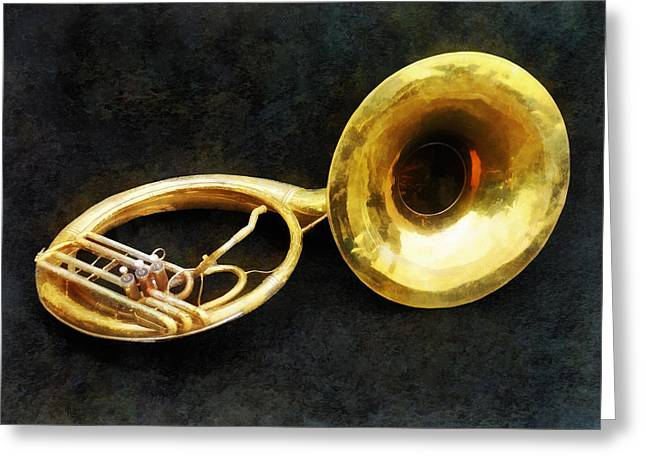 Musician Greeting Cards - Sousaphone Greeting Card by Susan Savad
