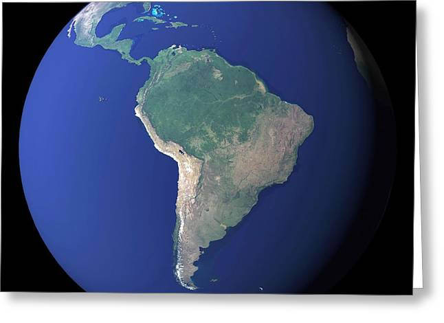 South America Greeting Card by Stocktrek Images
