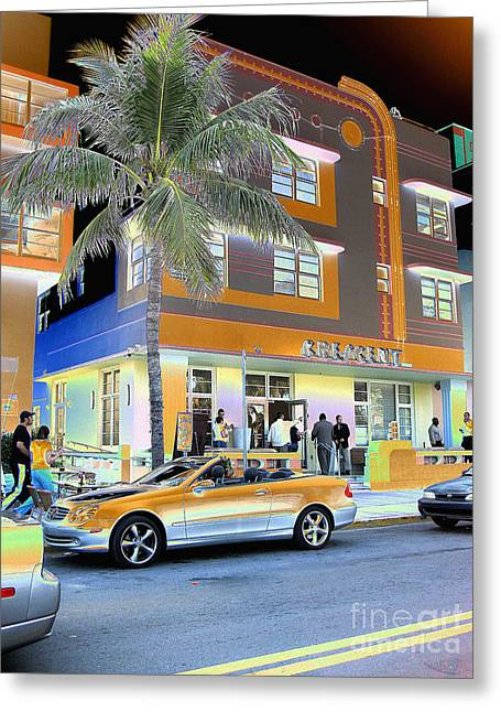 South Beach Surreal 3 Greeting Card by Judee Stalmack